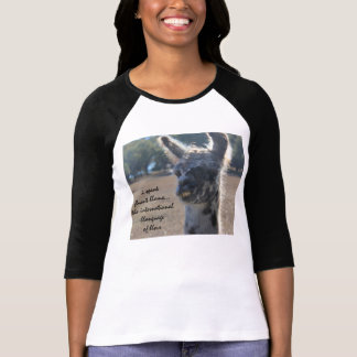 Funny Llama Shirt, I speak fluent Llama T-shirts