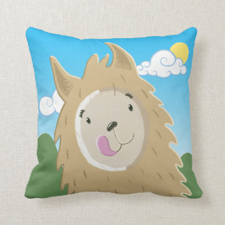 Funny Llama Throw Pillow