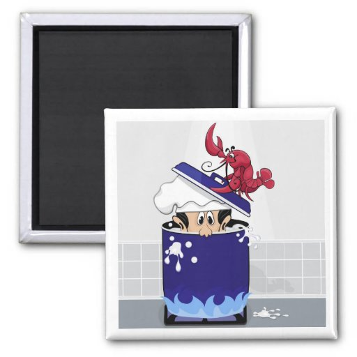 Funny Lobster 2 Inch Square Magnet