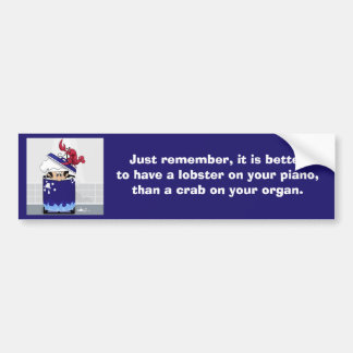 Funny Lobster Bumper Sticker