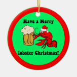 Funny lobster Christmas Christmas Tree Ornament