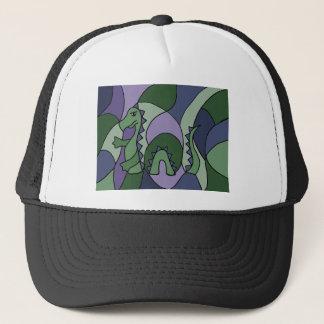 Funny Loch Ness Monster Abstract Art Trucker Hat