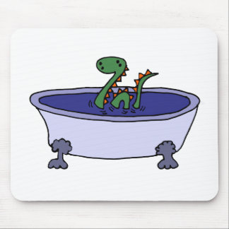 Funny Loch Ness Monster in Bathtub Mouse Pad