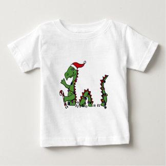 Funny Loch Ness Monster in Santa Hat Christmas Baby T-Shirt