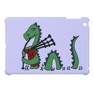 Funny Loch Ness Monster Playing Bagpipes Case For The iPad Mini