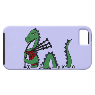 Funny Loch Ness Monster Playing Bagpipes iPhone 5 Cases