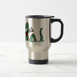 Funny Loch Ness Monster Playing Bagpipes Coffee Mug