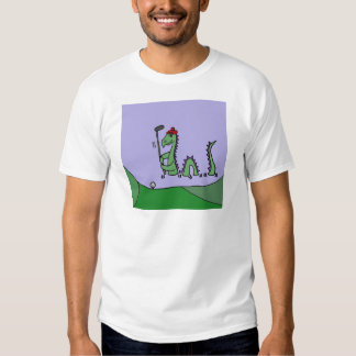 Funny Loch Ness Monster Playing Golf T Shirt
