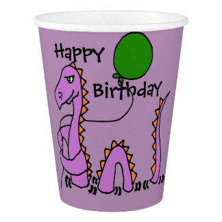 Funny Loch Ness Monster with Balloon Birthday Cups