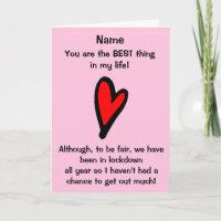 Funny Lockdown Valentines Day Card