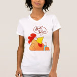 Funny LOL Cartoon Chicken T Shirt For Woman