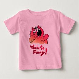Funny LOL Cat   Funny Cartoon Cat Baby T-Shirt