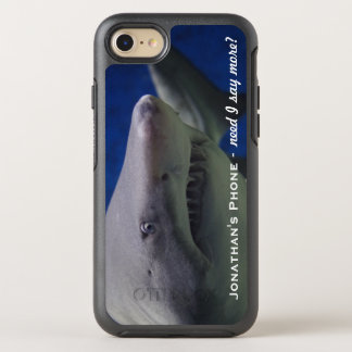 Funny LOL Great White Shark Monogram OtterBox Symmetry iPhone 8/7 Case