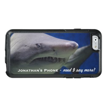 Funny Lol Great White Shark Personalized Monogram Otterbox Iphone 6/6s Case by colorfulgalshop at Zazzle