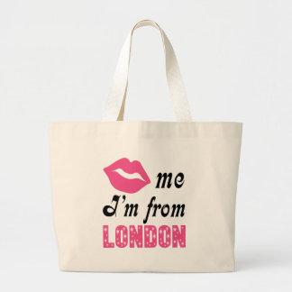 Funny London Large Tote Bag