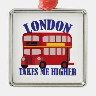 Funny London Take Me Higher Metal Ornament