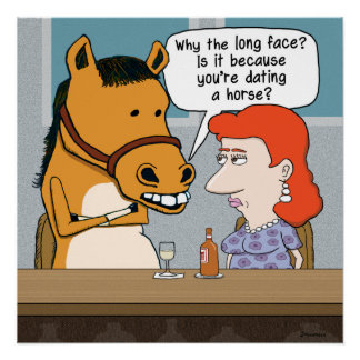 Funny Long-Faced Horse Date Poster
