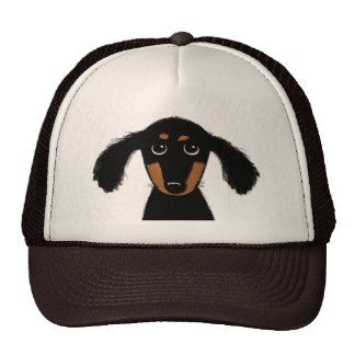 Funny Long Haired Dachshund Puppy Trucker Hat