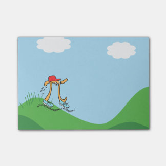 Funny Long Running Pi © Gift Post-it Notes