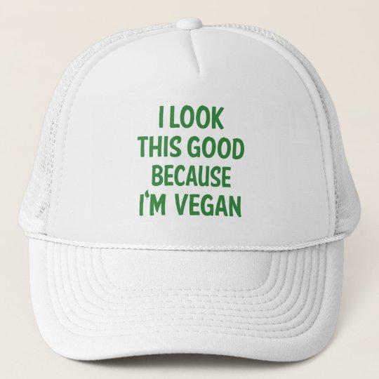 Funny Look This Good Vegan Quote Vegetarian Trucker Hat  c429dc0576a