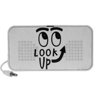 "Funny ""Look Up"" Gifts and Novelties Mini Speakers"