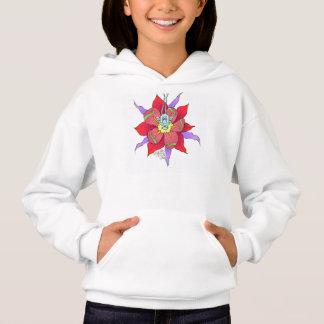 Funny looking creature in a flower, on a hoodie. hoodie