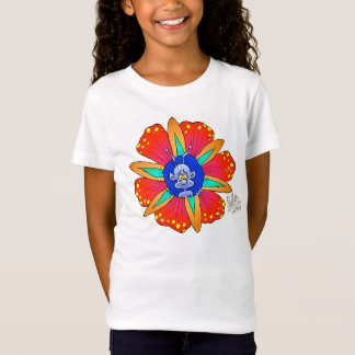 Funny looking creature in a flower, on a t-shirt. T-Shirt