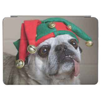 Funny looking pug with tongue hanging out iPad air cover