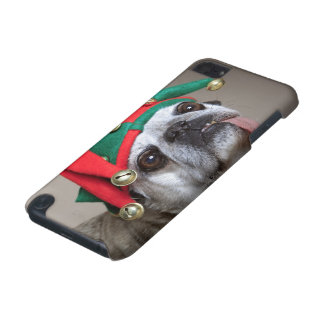 Funny looking pug with tongue hanging out iPod touch (5th generation) case