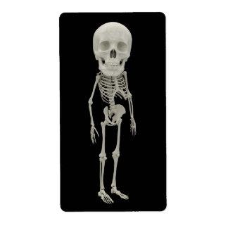 Funny looking skeleton label