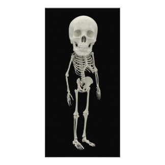 Funny looking skeleton photo card