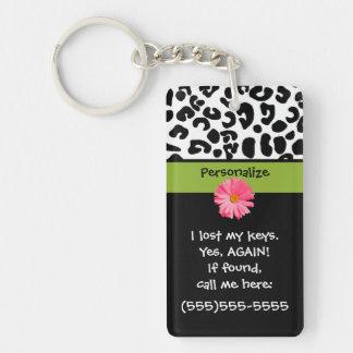 Funny Lost Keys Leopard Print Keychain