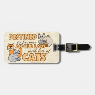 Funny Lots of Cats Design Luggage Tag