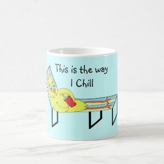 Funny Lounging Chicken Coffee Mug