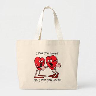 Funny love jumbo tote bag
