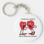 Funny love basic round button keychain