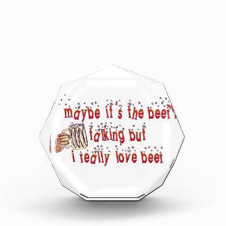 Funny Love Beer Acrylic Award