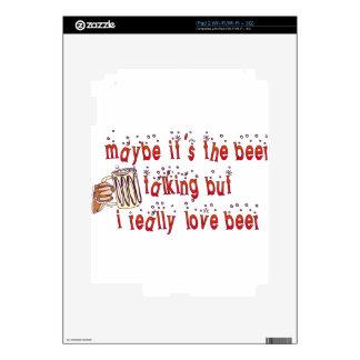 Funny Love Beer iPad 2 Decals