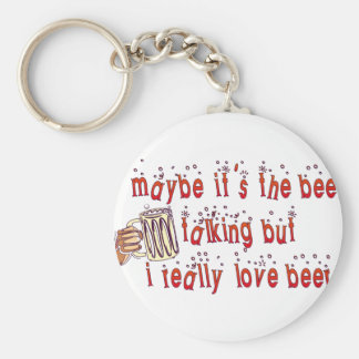 Funny Love Beer Keychain