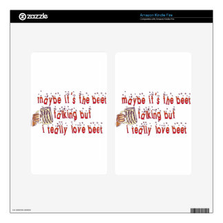 Funny Love Beer Kindle Fire Skin