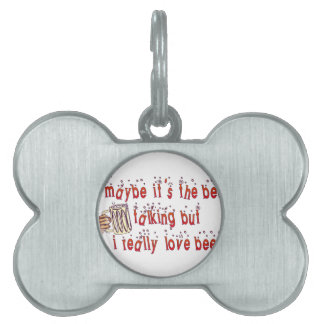 Funny Love Beer Pet ID Tag