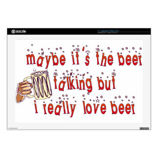 Funny Love Beer Skins For Laptops