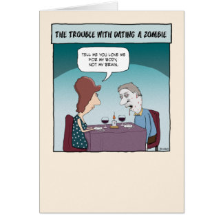 Funny love card: Girlfriend of a Zombie Card