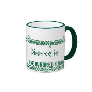 Funny Love Divorce Gag Mug