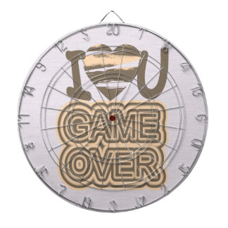 Funny Love Game Over Dartboards