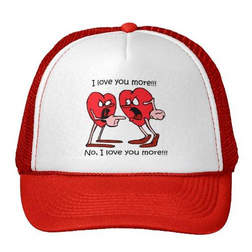 Funny love mesh hat