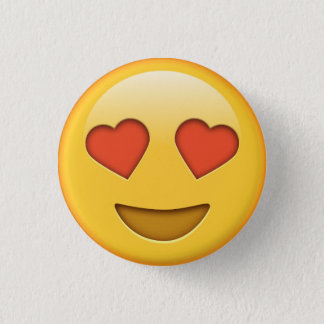 Funny love hearts emoji smiley button