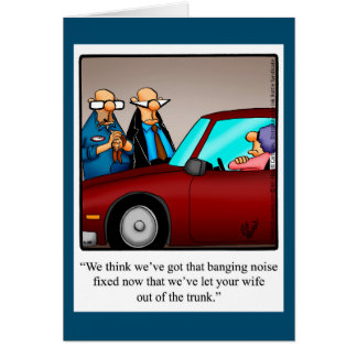 Funny Love & Marriage Humor Blank Greeting Card