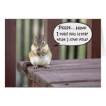 Funny love notes romantic greeting card