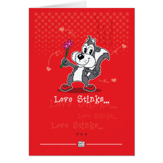 Funny Love Stinks Greeting Card